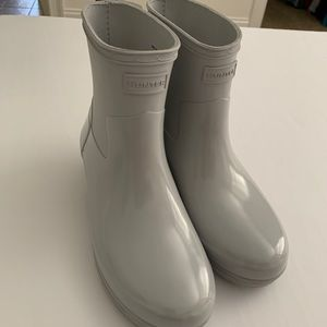 Hunter grey short boots size 7